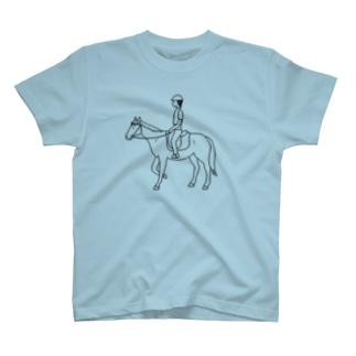 馬のいる日常 T-shirts
