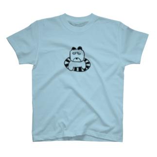 ウキウキワン(黒) T-shirts