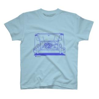 VW バス type2 エンジン T-shirts