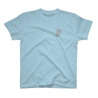 ヒトデの行進 T-shirts