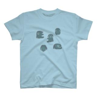 【blue】pretty dog T-shirts