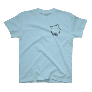 クマコロまる・尻フリ(小)(線画:黒バージョン) T-shirts