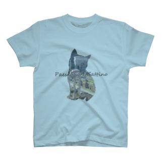 Paesaggio e gatto-Foro Romano T-shirts