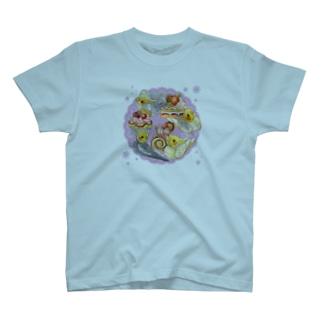 ケーキとオカメインコ T-shirts