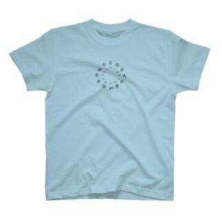 五度圏(ブラック) T-shirts