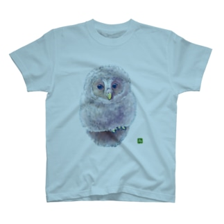 ウラルフクロウ 大小デザイン T-shirts