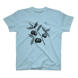TS.オリーブの木(ライン) T-shirts