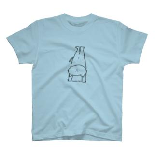 なるねこさん逆立b 25色展開! T-shirts