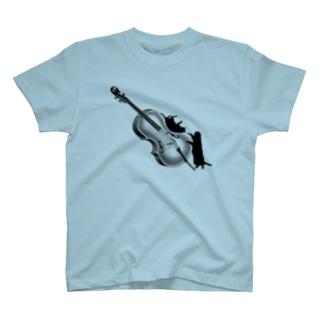 チェロと黒猫 T-shirts