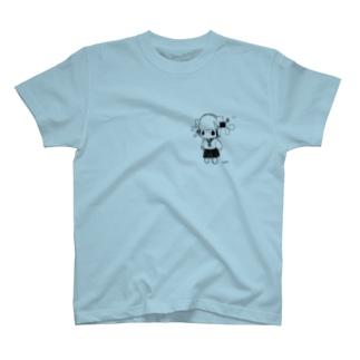 ヘッドホン少女ぬいぐるみちゃん T-shirts