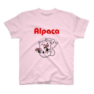 ぷりてぃアルパカ Tシャツ