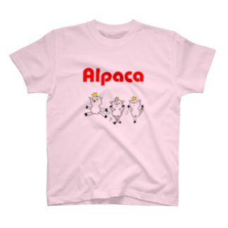 ぷりてぃアルパカのぷりてぃアルパカTシャツ