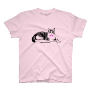ネクタイ猫ちゃん Tシャツ
