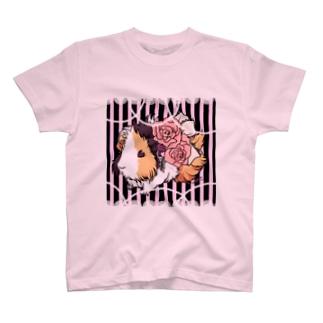 コッテリおめかしモルモット Tシャツ