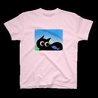魚の夢CHの魚の夢CH〜サクラトネコトボク〜Tシャツ