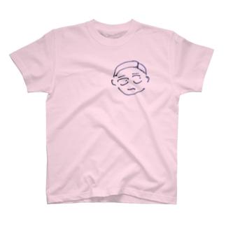 七分三男 怪訝表情 Tシャツ