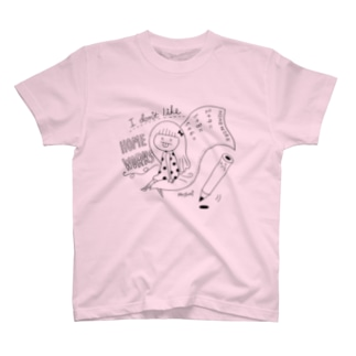 DailyDoodle 宿題嫌いガール Tシャツ