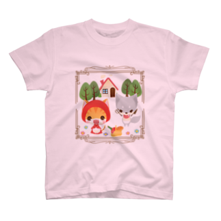 aska/ねこのかんづめのねこかん赤ずきん2Tシャツ