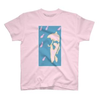 白馬、傘をさす。 Tシャツ