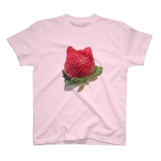 ねこいちご Tシャツ