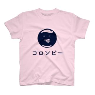 コロンピさんTシャツ2016夏ブルーロゴ Tシャツ