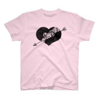 ずきゅん!(モノクロ) Tシャツ