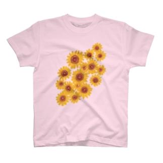 ひまわりブーケ Tシャツ