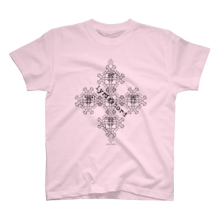 lyricchordスター黒ライン/ドローイングアート Tシャツ