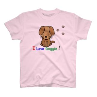 I live Doggieシリーズ Tシャツ