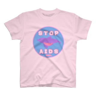 Condom Dolphin【STOP AIDS】 Tシャツ