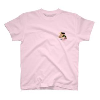 わんぱ君としおりちゃん Tシャツ