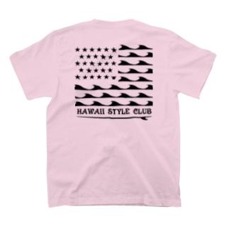 〔Back Print〕 STARS AND NALU BLK LOGO T-shirts