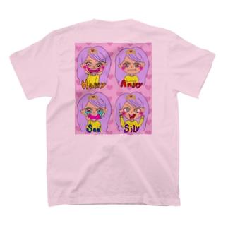 ハートちゃんのハッピーフェイス♡派手派手バージョン T-shirts
