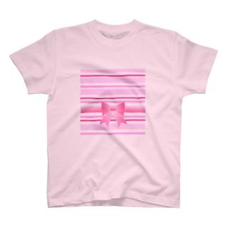 ボーダー+🎀 T-shirts
