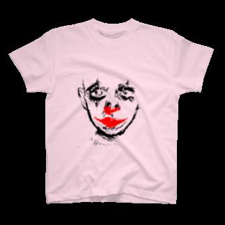 昆布しょうゆのclown plain T-shirts
