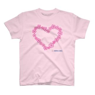 プルメリアハート マカナアロハ Makana Aloha T-shirts