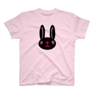 ウサギ black T-shirts