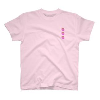 おっけー!ピンクナマケモノの列 T-shirts