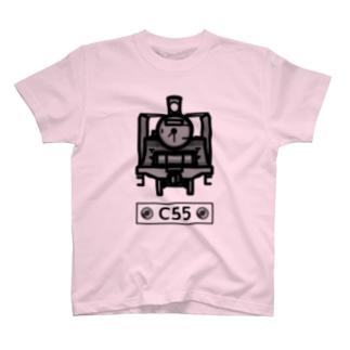名入れ可「C55」蒸気機関車 T-Shirt