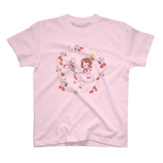 鴇ちゃんといちご T-shirts