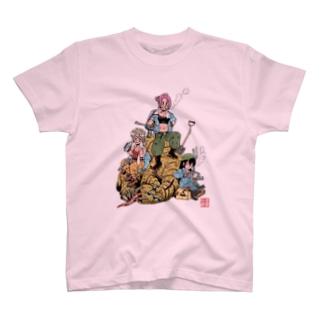 丸岡九蔵のひじかた三人娘 T-shirts