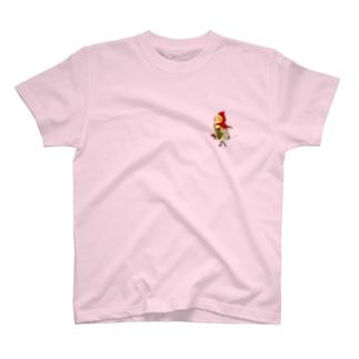 ROBOBO オカメインコ 「ポポロボ」 T-shirts