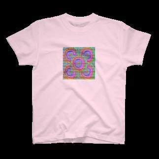 🌏💞🌋ノスタル爺🌋💞🌏の動画はありません(ピンク) T-shirts