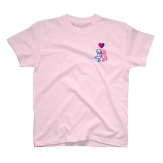 とりのカップル T-shirts