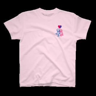 四時の太陽のとりのカップル T-shirts