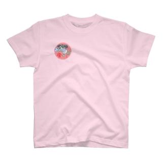 峯犬 骨1 T-shirts