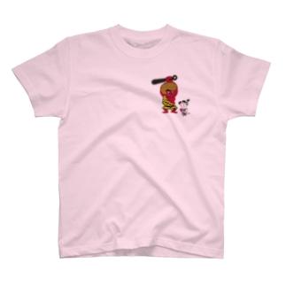 歩きスマホ桃太郎と仲良し鬼 T-shirts