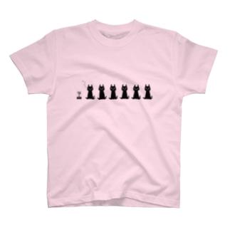 おすわりちゃーにゃー Tシャツ