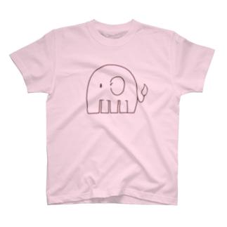 ファイアーエレファント(線のみ)  T-shirts