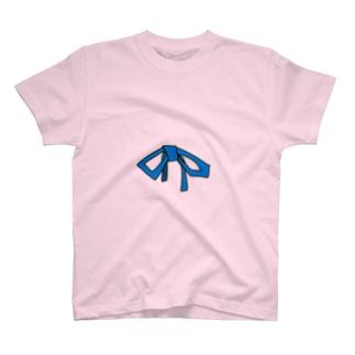 おリボンブルー T-shirts